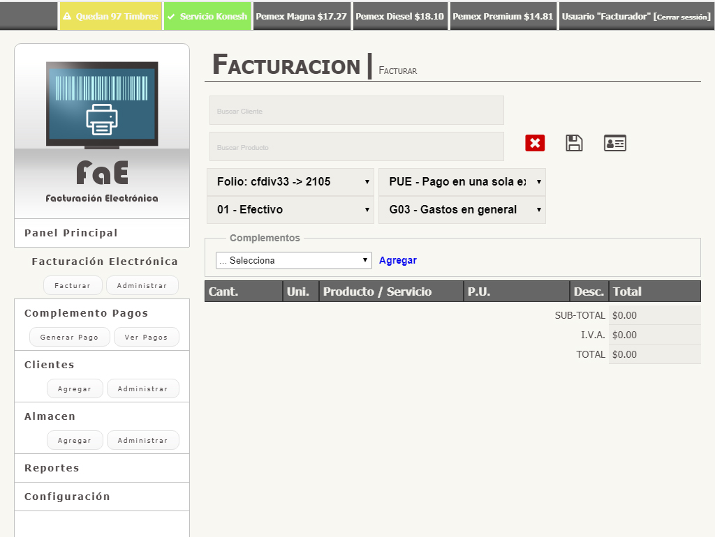 FaE Electronic Invoice